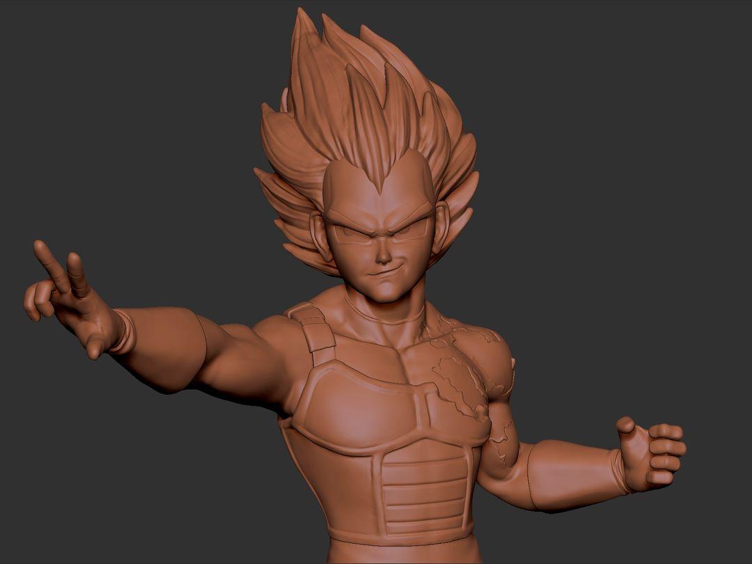 Vegeta 3D Printable Character Vegeta 02 jpg