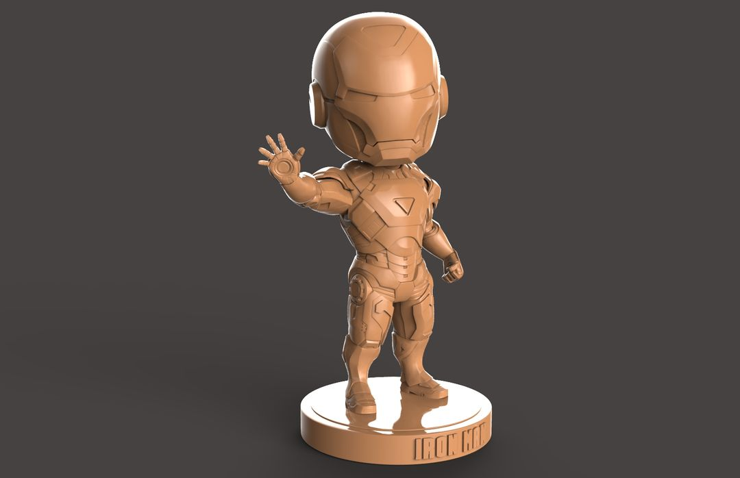 3D Printable Stylised Iron Man Charatcer Iron Man 01 jpg