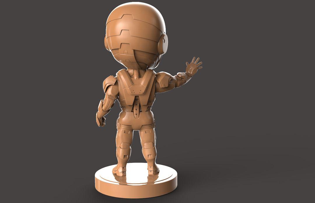 3D Printable Stylised Iron Man Charatcer Iron Man 02 jpg