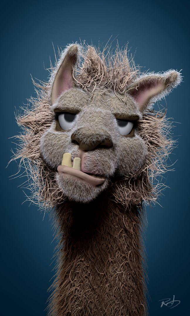 Llama Face - concept sculpt Llama Face 01 jpg