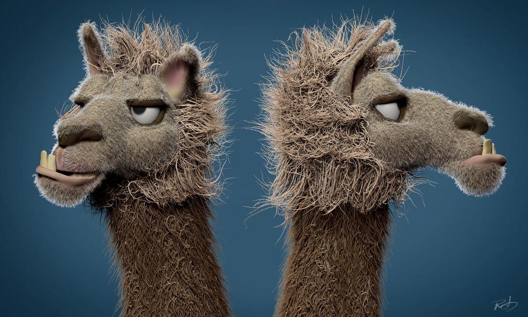 Llama Face - concept sculpt Llama Face 02 jpg
