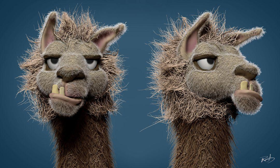 Llama Face - concept sculpt Llama Face 03 jpg