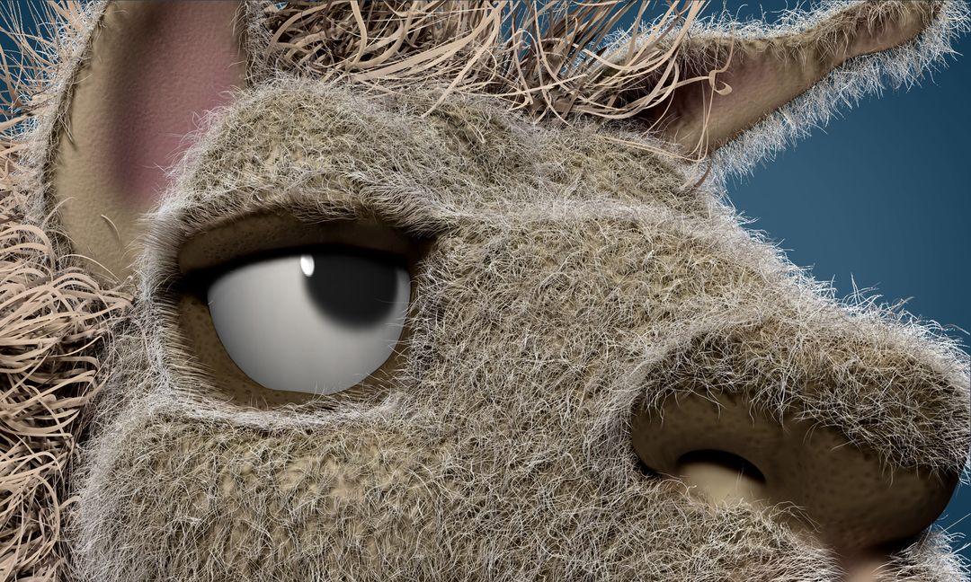 Llama Face - concept sculpt Llama Face 05 jpg