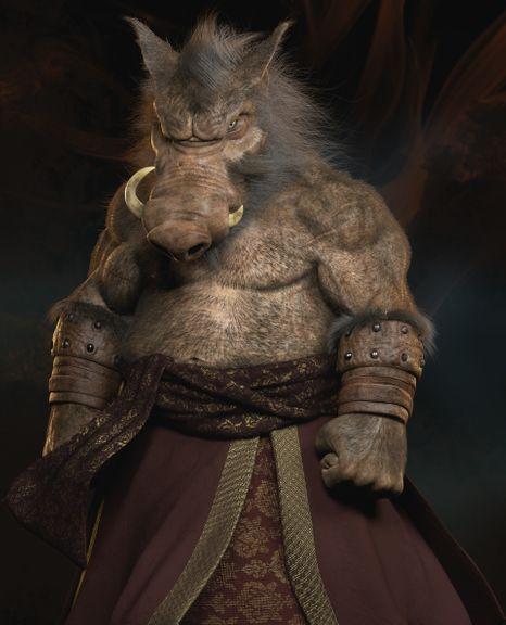 Wild Boar Creature Character 3D Model