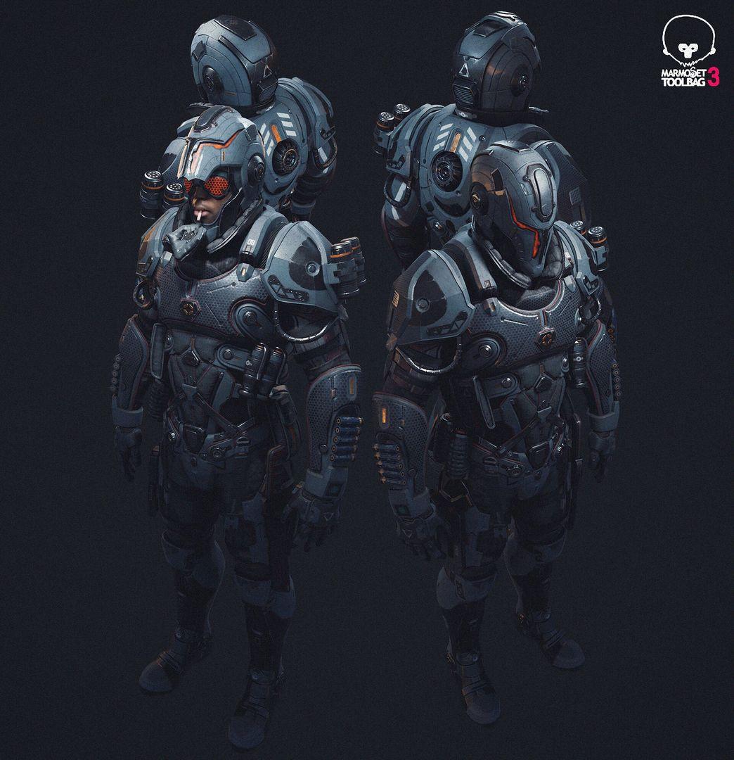 PBR Game Character in realtime jason ahn m44 jpg