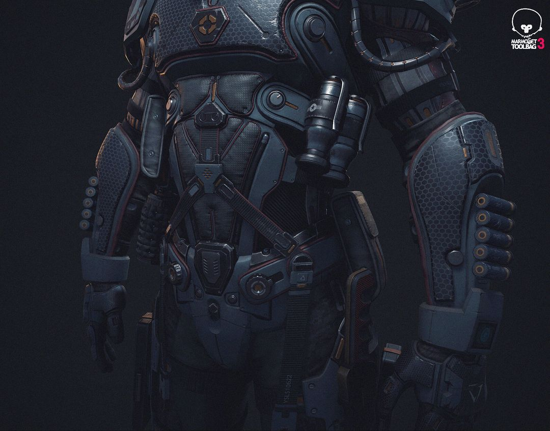 PBR Game Character in realtime jason ahn m55 jpg