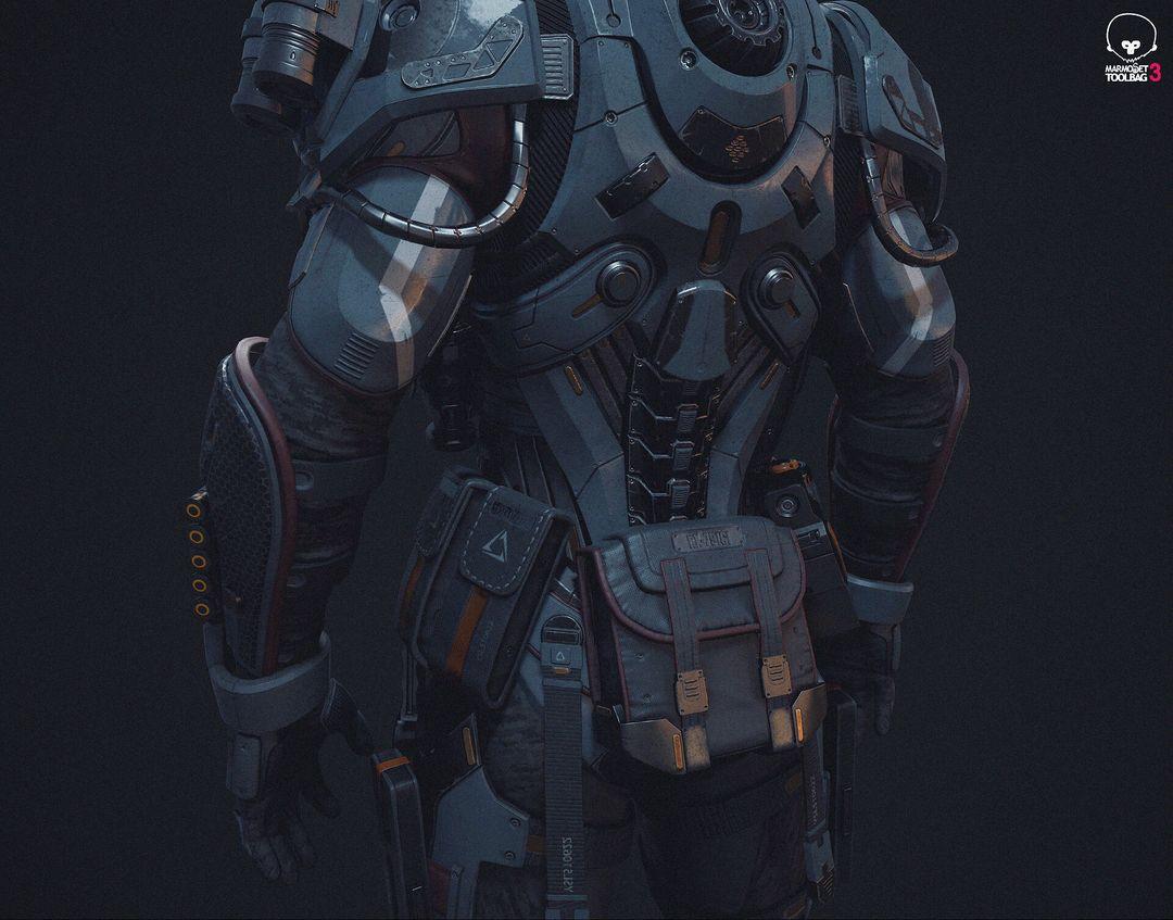 PBR Game Character in realtime jason ahn m66 jpg