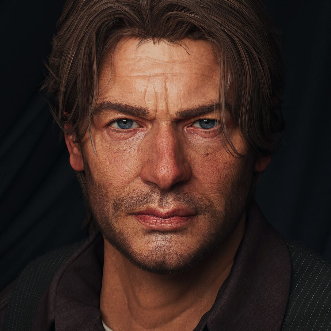 Billy - Realistic Character for Game jason ahn front com jpg
