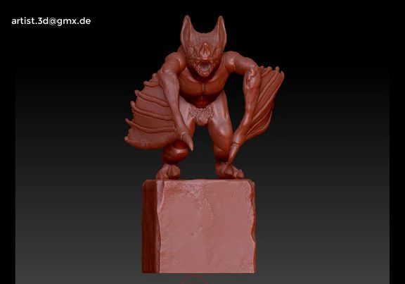 Gargoyle monster character 3D print model