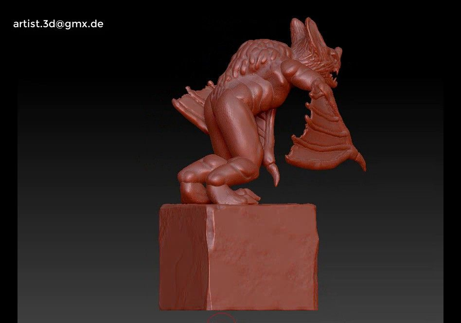 Gargoyle monster character 3D print model Untitled Project09 jpg