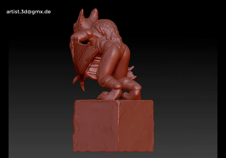 Gargoyle monster character 3D print model Untitled Project15 jpg