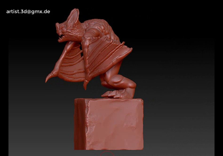Gargoyle monster character 3D print model Untitled Project18 jpg