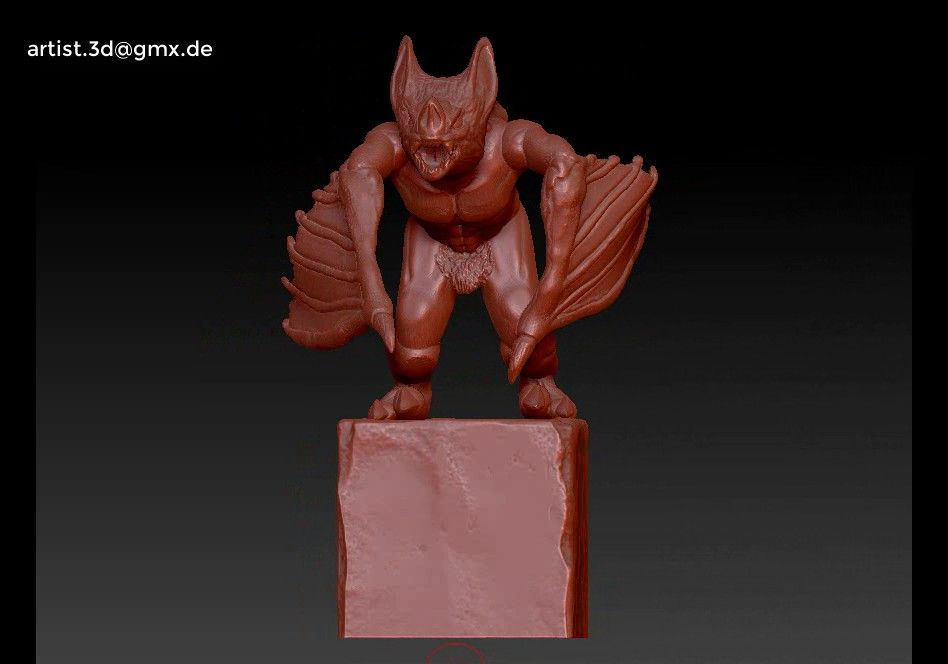 Gargoyle monster character 3D print model Untitled Project22 jpg