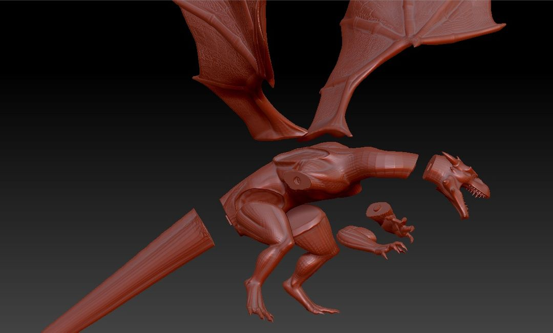 dragon printabel 3D model 1 jpg