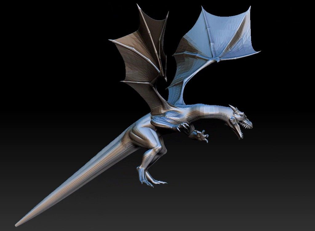 dragon printabel 3D model Untitled Project03 jpg