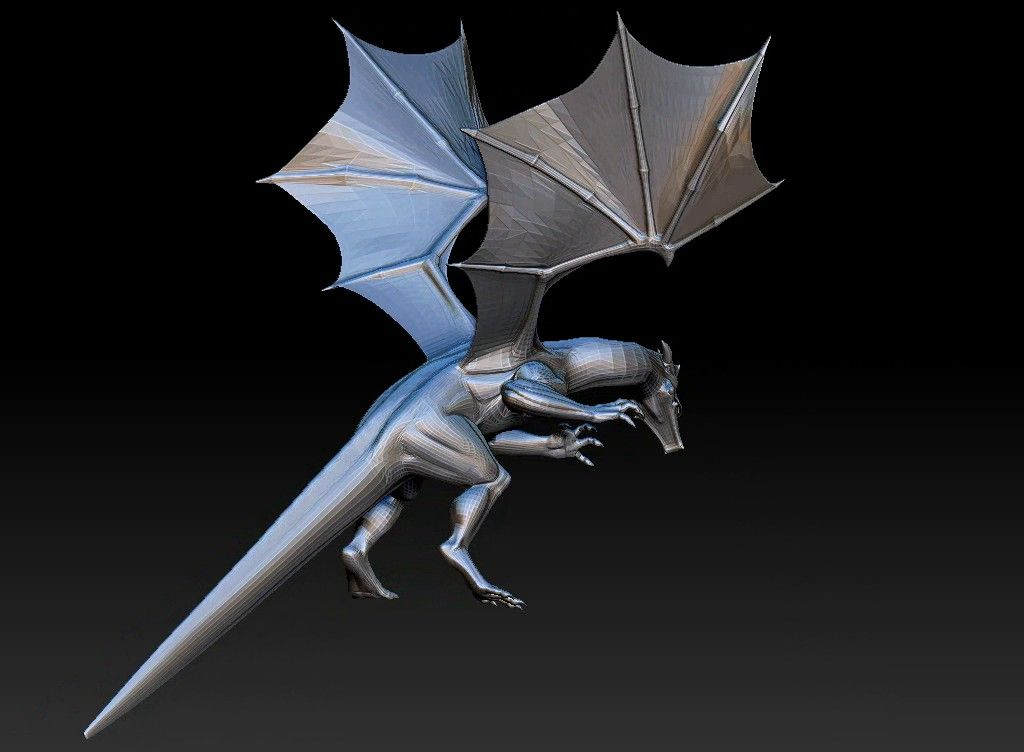 dragon printabel 3D model Untitled Project06 jpg