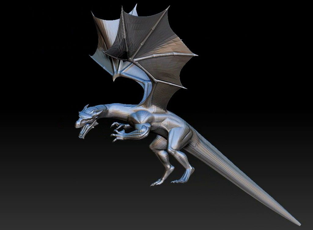 dragon printabel 3D model Untitled Project15 jpg