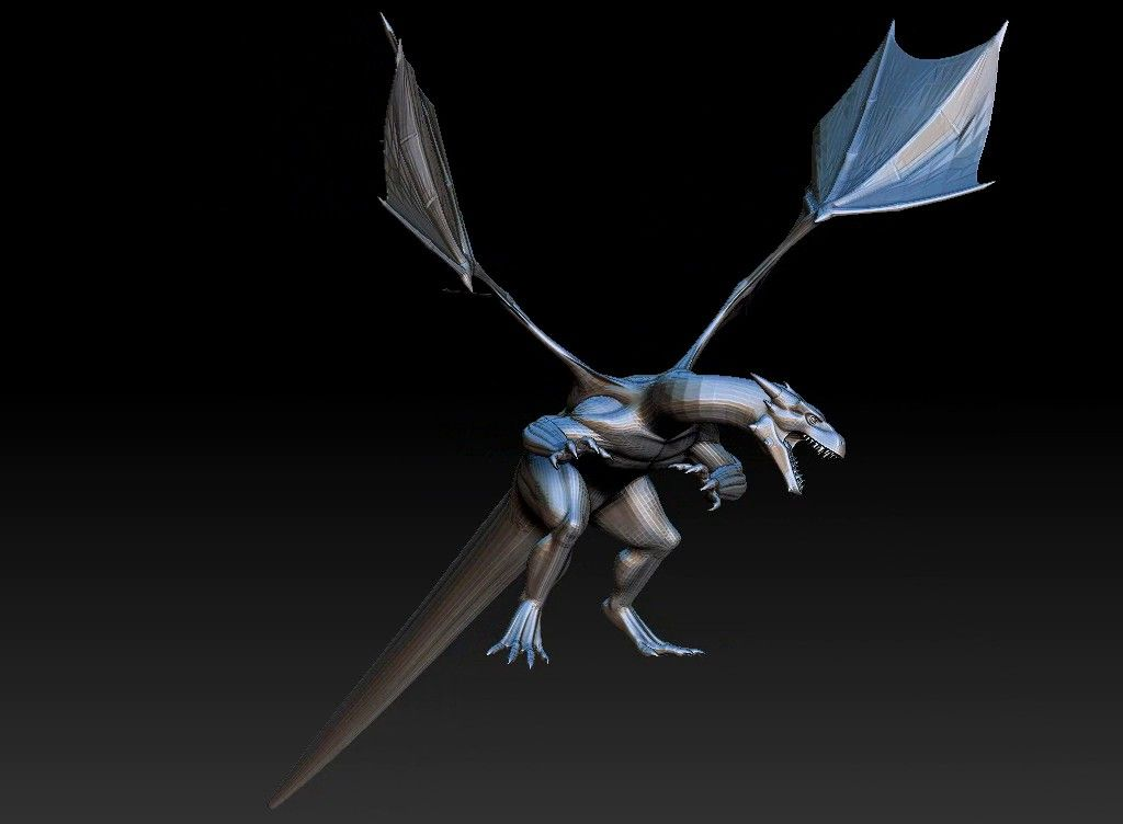 dragon printabel 3D model Untitled Project21 jpg