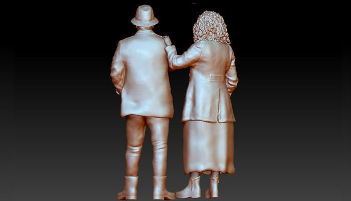 high-poly realistic couple 3D model high poly realistic couple 3d model 3d model obj mtl (1) jpg