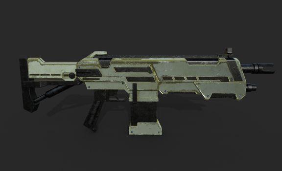 Assault Rifle Game Asset.