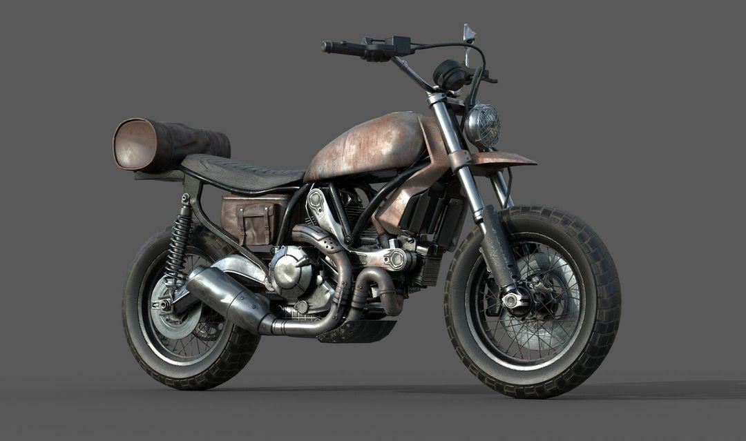 Low poly Motor Bike 3D Model MotorBike Lowpoly 01 jpg