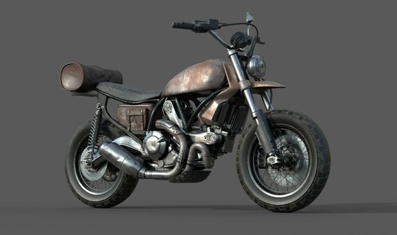 Low poly Motor Bike