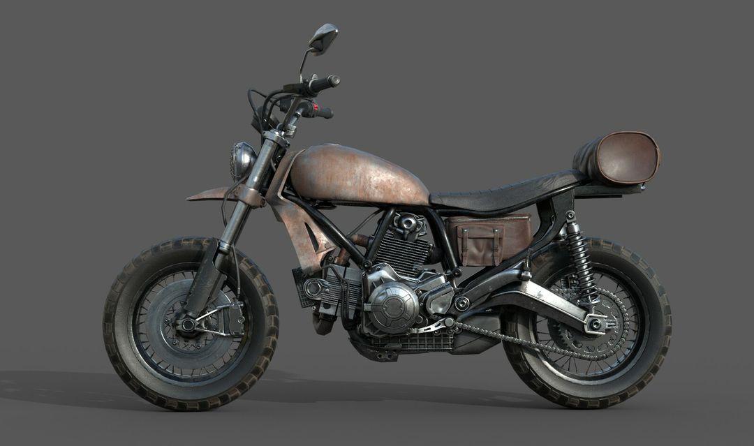 Low poly Motor Bike 3D Model MotorBike Lowpoly 03 jpg