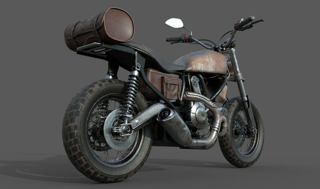 Low poly Motor Bike 3D Model MotorBike Lowpoly 04 jpg