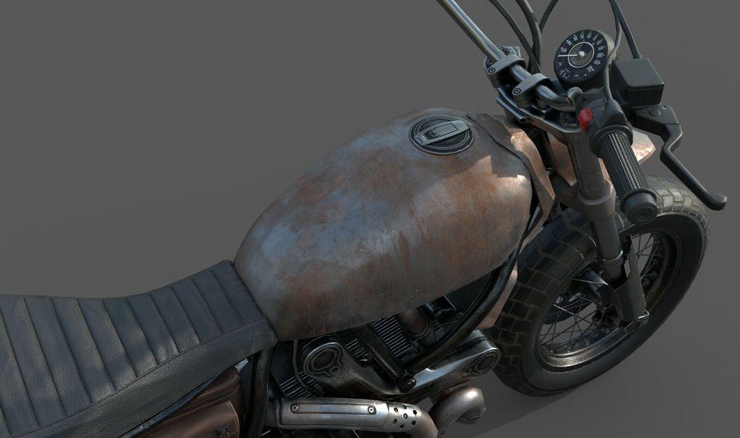 Low poly Motor Bike 3D Model MotorBike Lowpoly 08 jpg