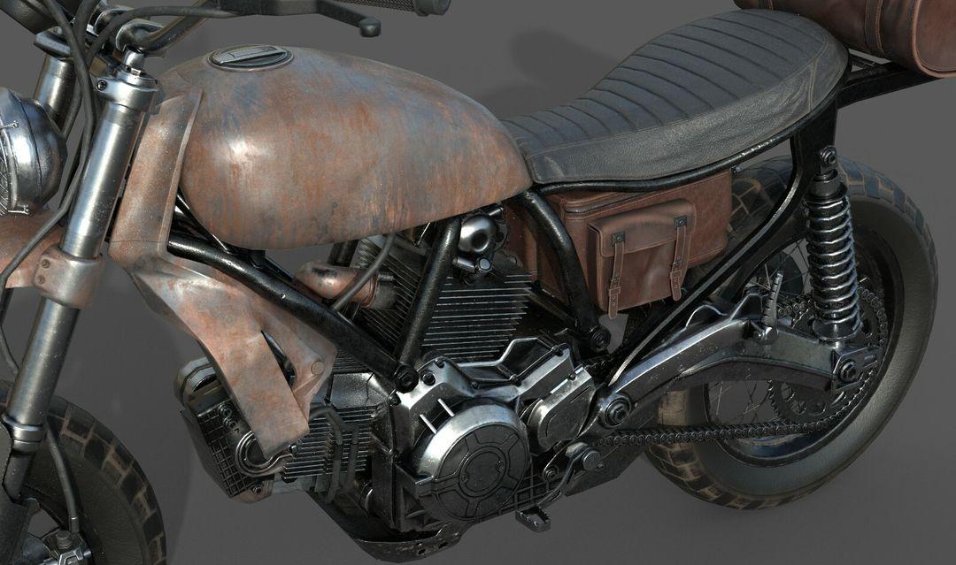 Low poly Motor Bike 3D Model MotorBike Lowpoly 09 jpg