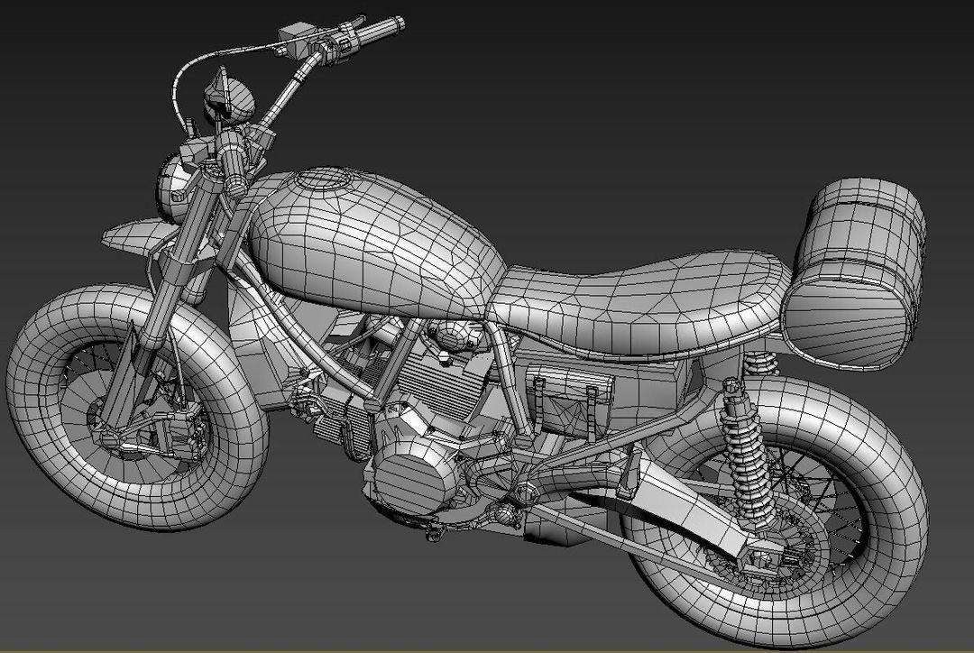 Low poly Motor Bike 3D Model MotorBike Lowpoly 10 jpg