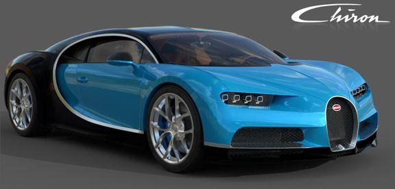Bugatti Chiron Lowpoly