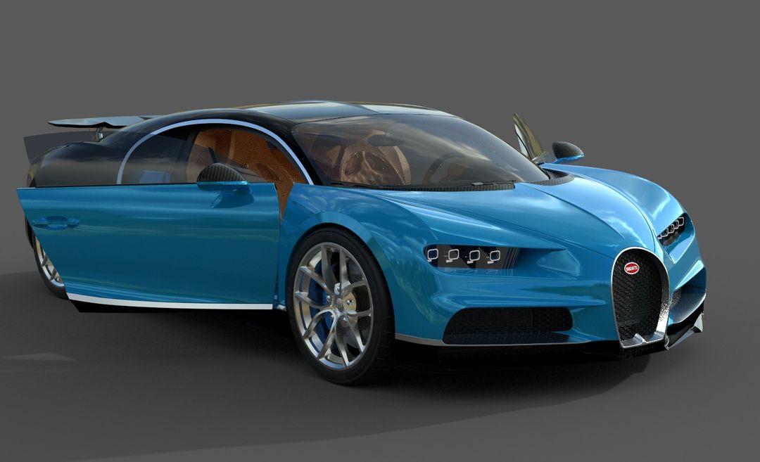 Bugatti Chiron Lowpoly Bugatti Chiron Low Poly 03 jpg