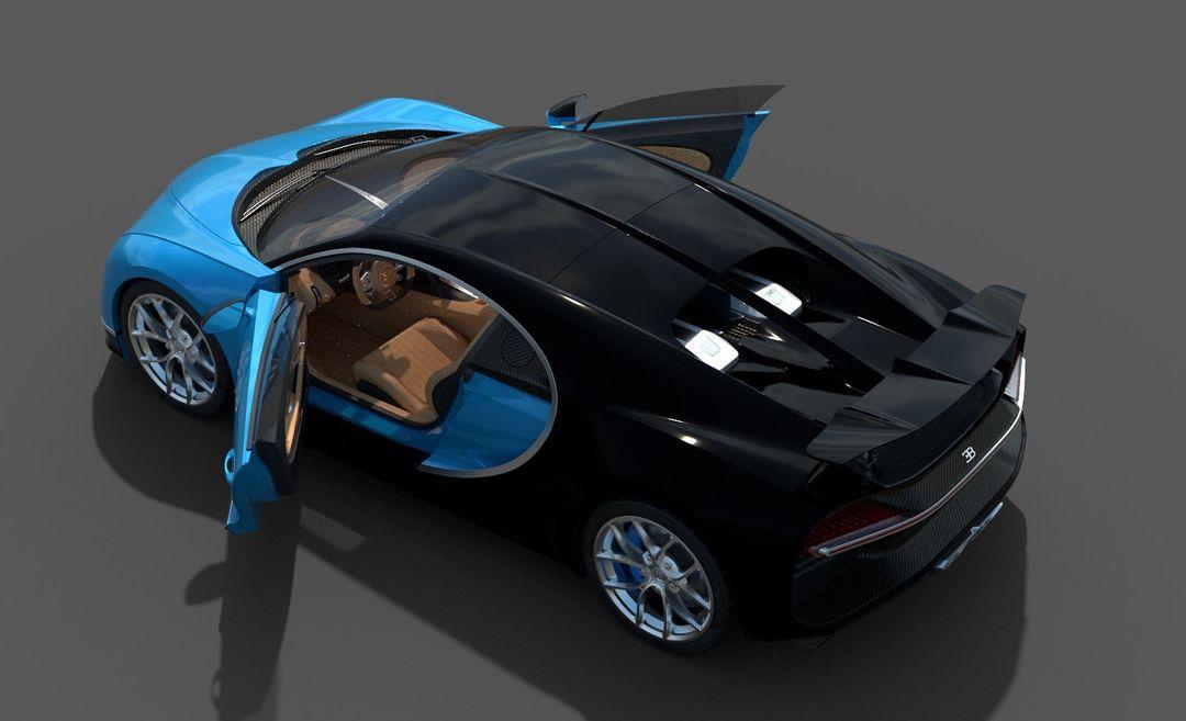 Bugatti Chiron Lowpoly Bugatti Chiron Low Poly 05 jpg