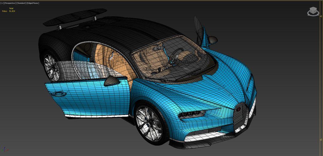 Bugatti Chiron Lowpoly Bugatti Chiron Low Poly 10 jpg