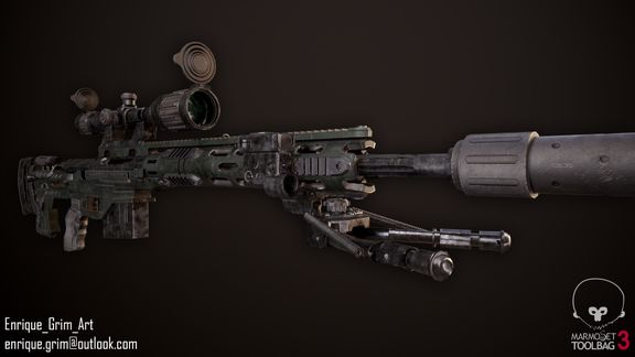 Remington MSR Sniper Rifle Game Ready