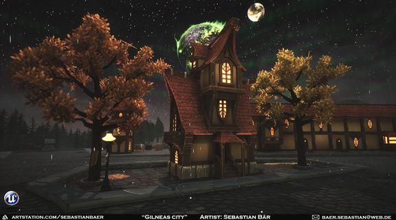Gilneas - World of Warcraft inspired city (UE4)