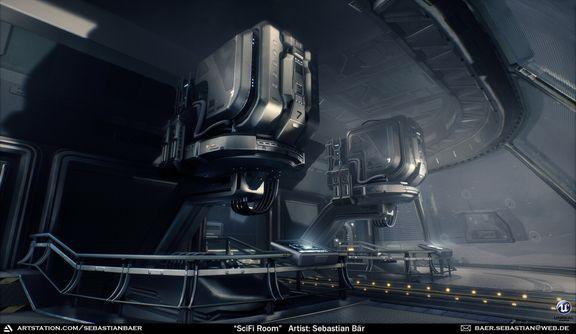Scifi Generator Room (UE4) - Halo Fan Art