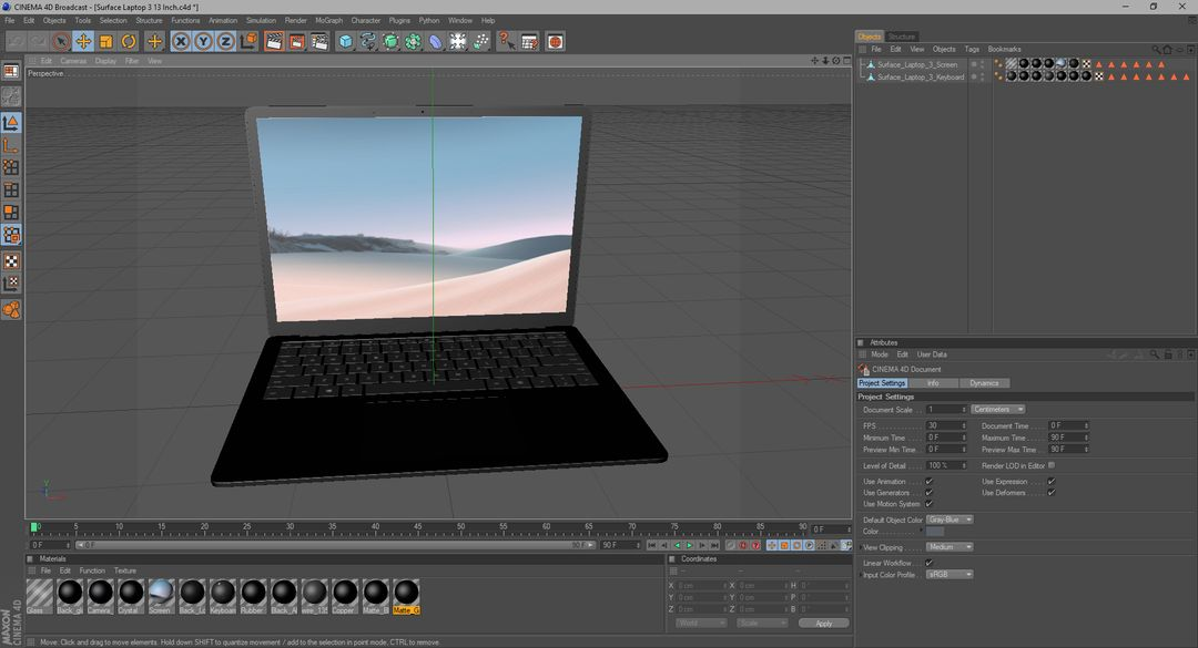 3D Electronics Modeling and Rendering Surface Laptop 3 13 Inch 023 jpg