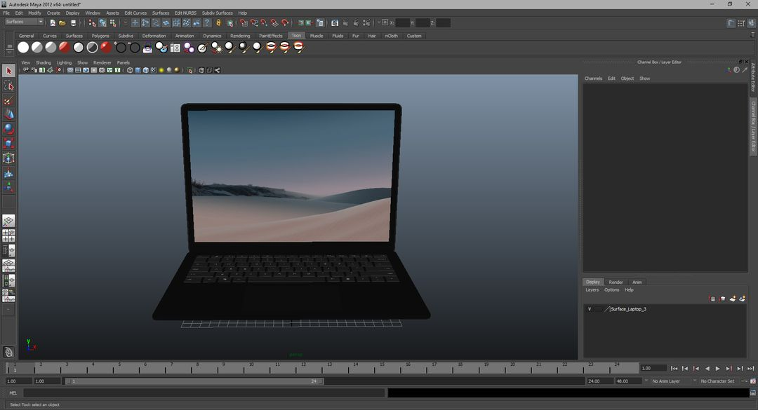 3D Electronics Modeling and Rendering Surface Laptop 3 13 Inch 024 jpg