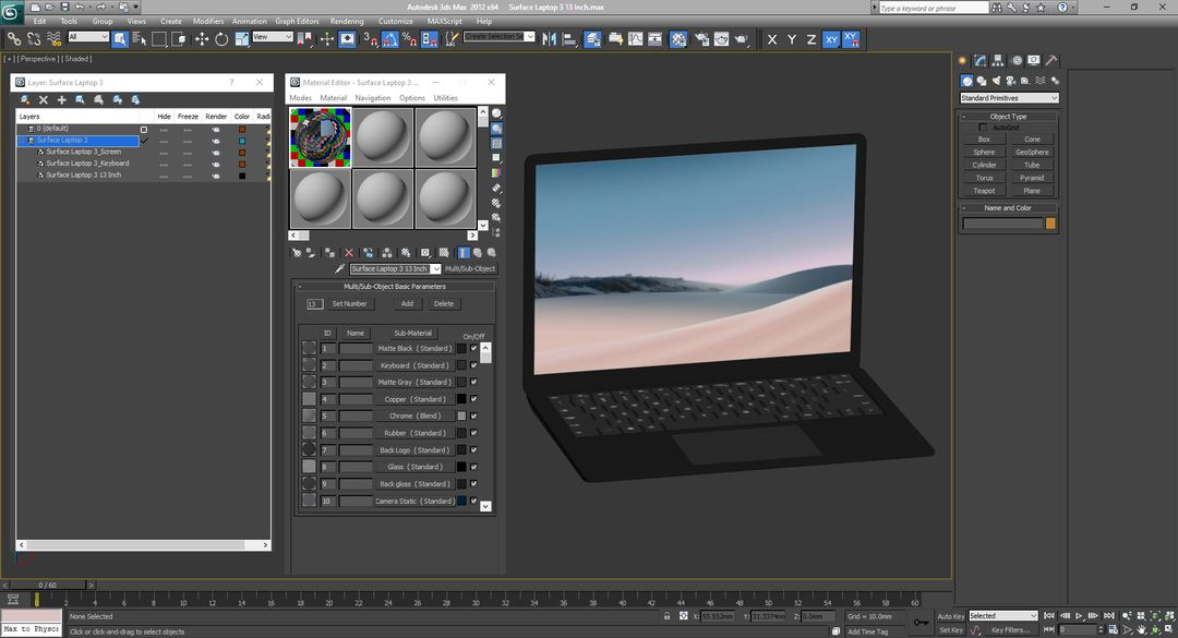 3D Electronics Modeling and Rendering Surface Laptop 3 13 Inch 025 jpg