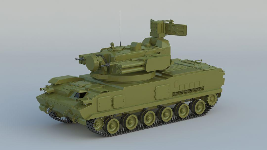 I can make 3D model high quality for vehicles. 2K22 Tunguska 001 jpg