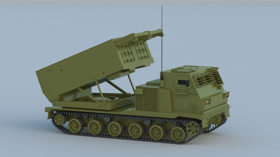I can make 3D model high quality for vehicles. M270 Rocket System 001 jpg