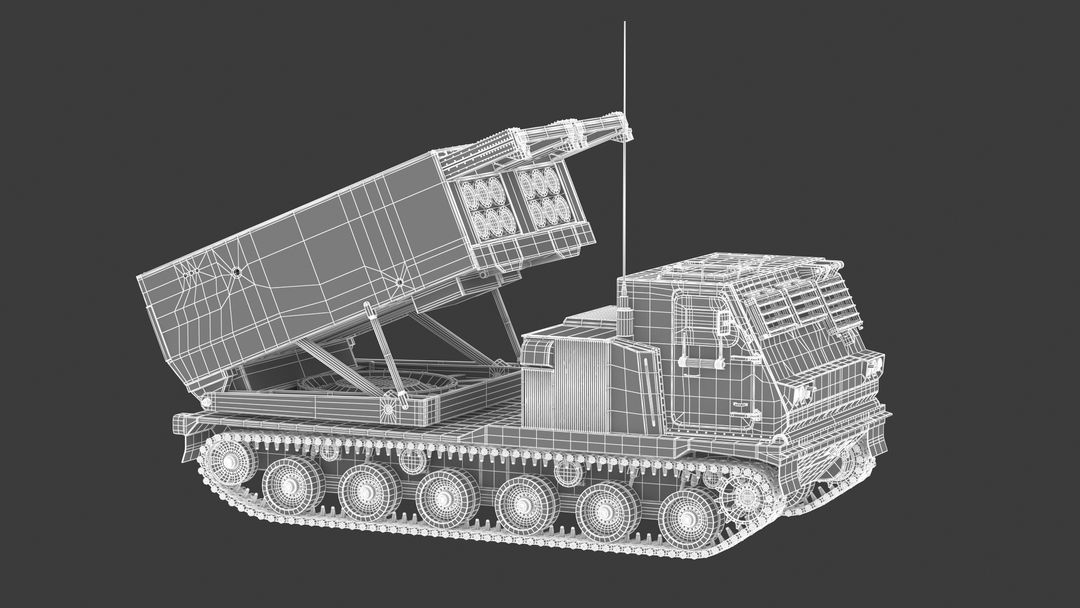 I can make 3D model high quality for vehicles. M270 Rocket System 021 jpg