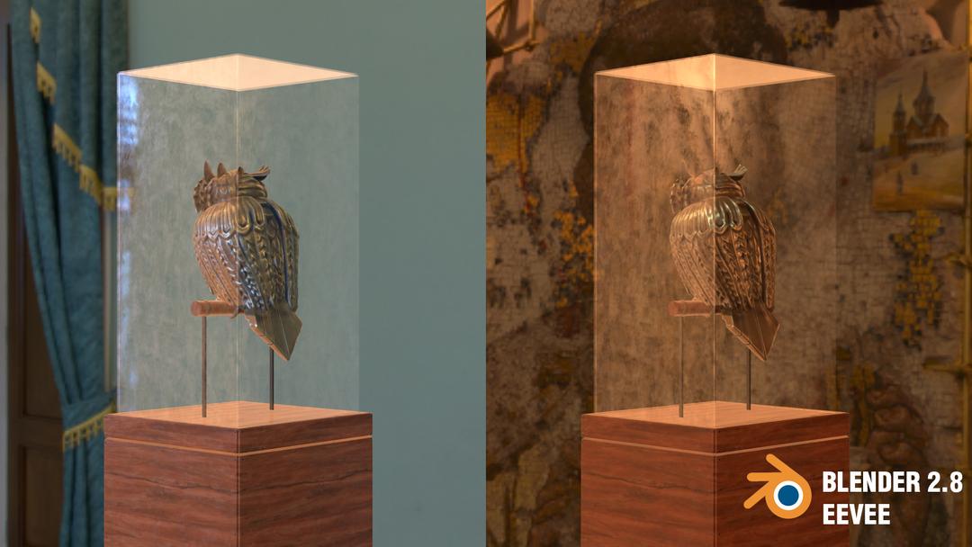 Steampunk Owl tim braslavsky blender 28 screenshots perchedbackleft png