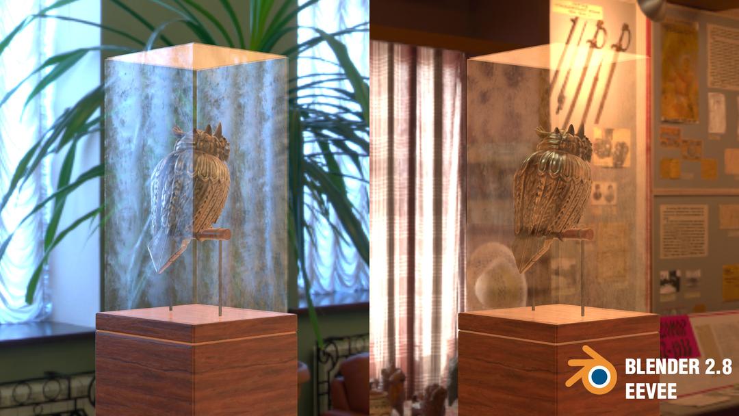 Steampunk Owl tim braslavsky blender 28 screenshots perchedbackright png