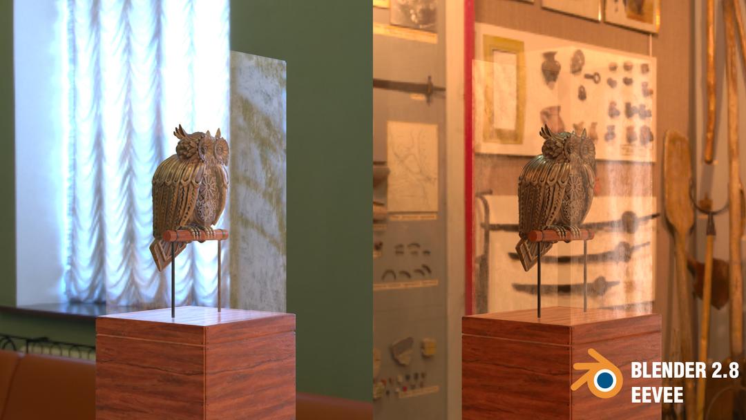 Steampunk Owl tim braslavsky blender 28 screenshots perchedfrontright png