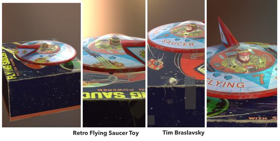 Vitage Toy - Flying Saucer