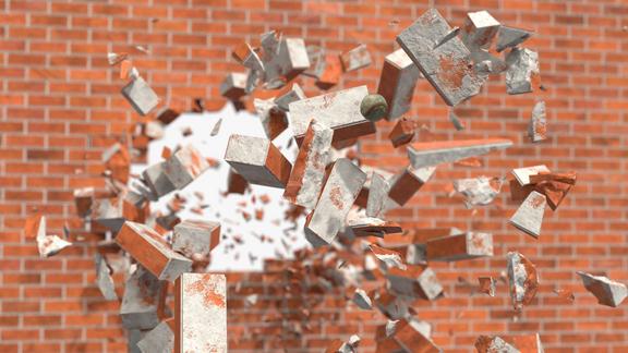 Wall Breaking Animation