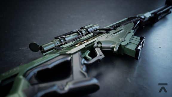 Sniper Rifle | High Poly Render